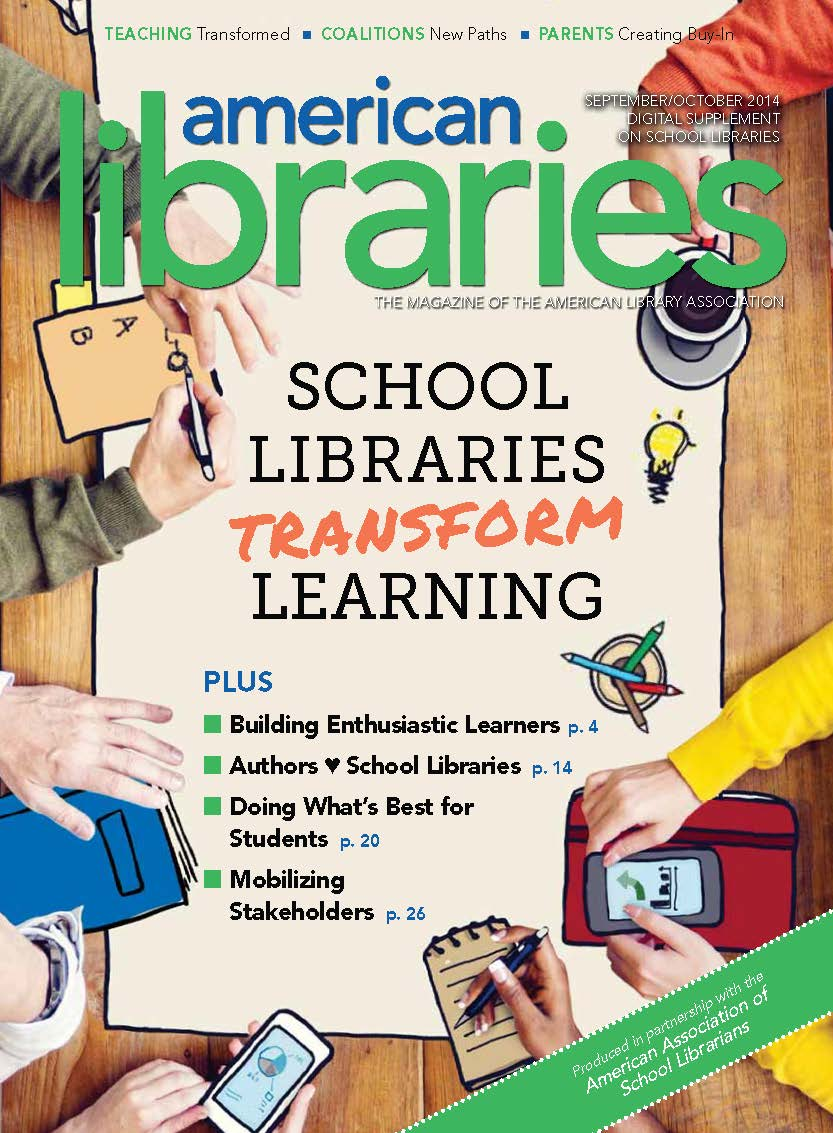 "image of American Libraries ""School Libraries Transform Learning"" book cover"